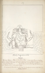 Sculpture of Ganesh. 'Sketch of Vegnaswar the son of Seevan